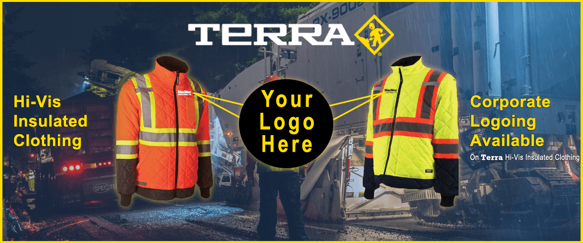 Corporate branding available on TERRA clothing by BBH