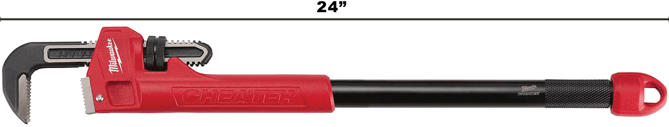 Image of Milwaukee Cheater Pip Wrench With 24' Handle