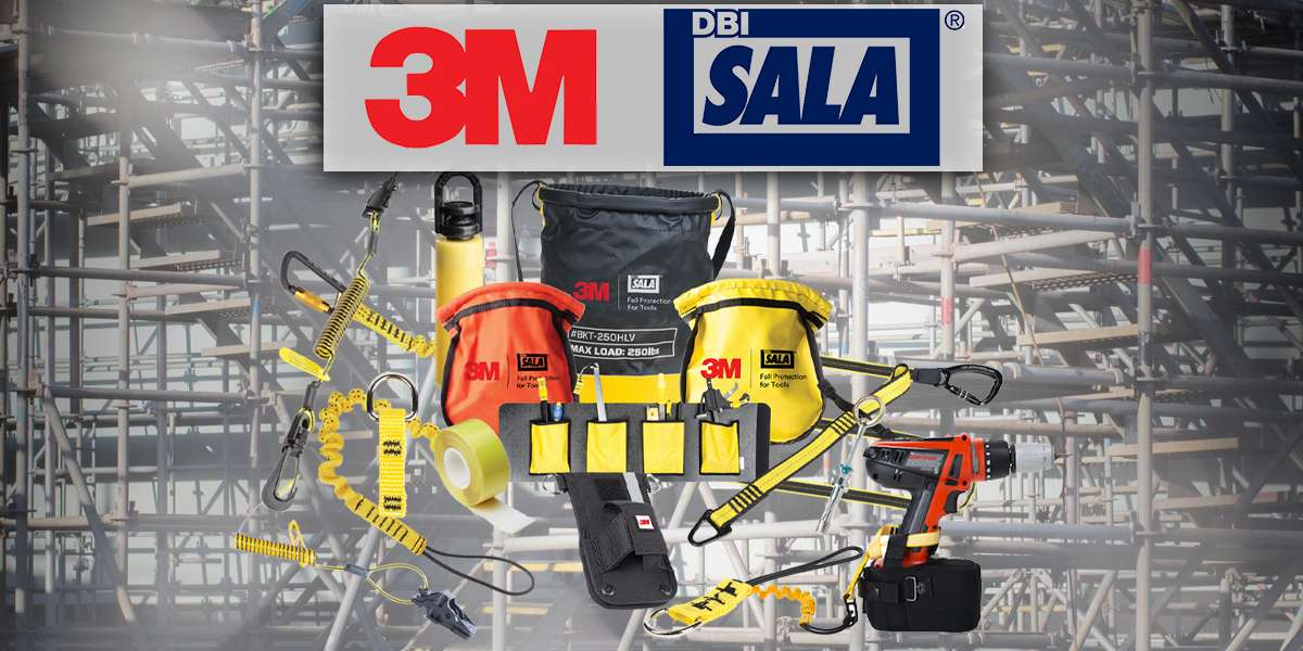This graphic shows some of the 3M™ DBI-Sala® Fall Protection for Tools products available at MacMor