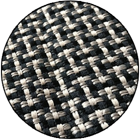 Close up image of woven kevlar material