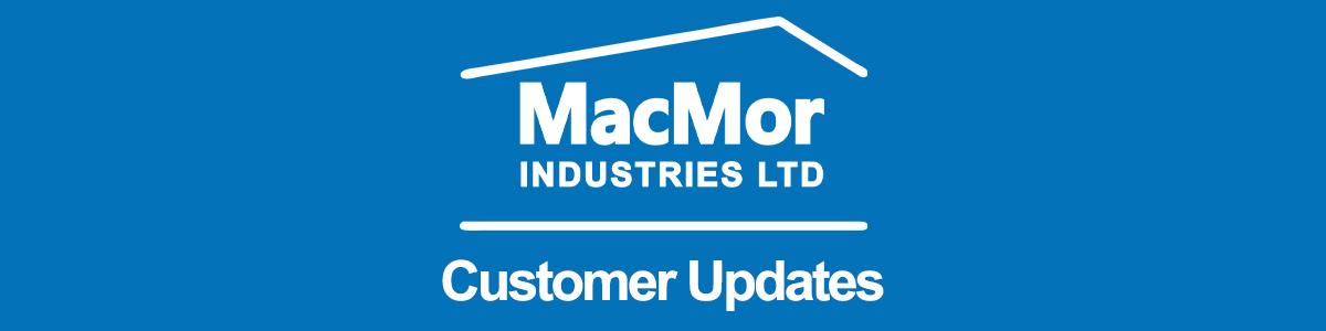 MacMor Customer Update Banner