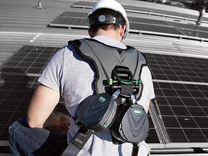 Worker Using MSA V-Flex Harness