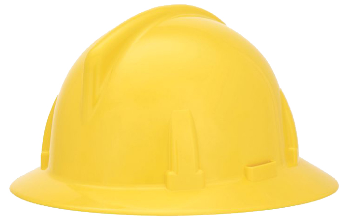 This image shows an MSA TopGard® type 1 hard hat, carried at macmor, and fully customizable with your organizations logo