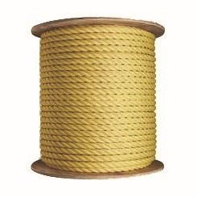 Picture of 3-Strand Twisted Yellow Polypropylene Rope - Jumbo Reels