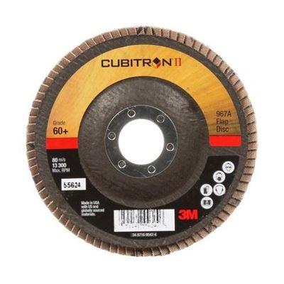"Picture of 3M Cubitron II 4-1/2"" x 7/8"" Type 29 Flap Discs"