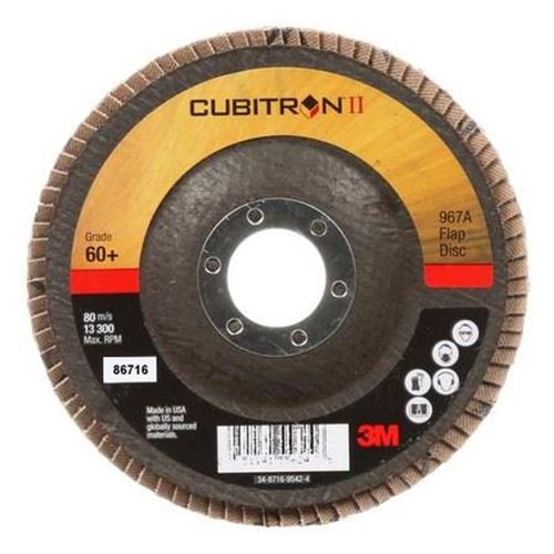 "Picture of 3M™ Cubitron™ II Flap Disc 967A, 5"" x 7/8"" Type 29"