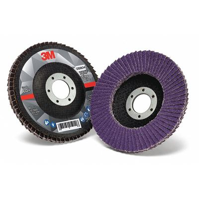"""Picture of 3M™ Flap Disc 769F, 4-1/2"""" x 7/8"""" Type 29 Angled"""