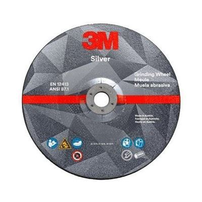 Picture of 3M Silver Grinding Wheel - Type 27 (Depressed Centre)
