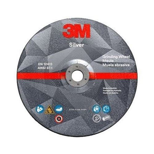 Picture of 3M™ Silver Grinding Wheel - Type 27 (Depressed Centre)