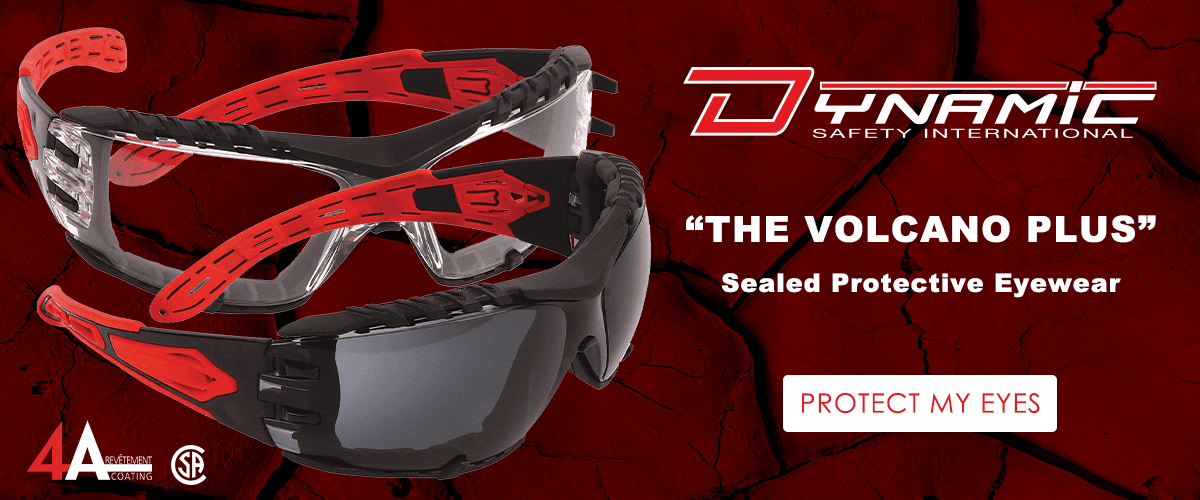 New DSI Volcano Plus Sealed Eyewear