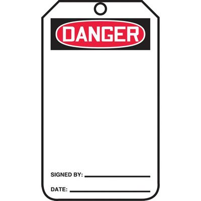 Picture of Accuform Danger Safety Tag - Blank Cardstock