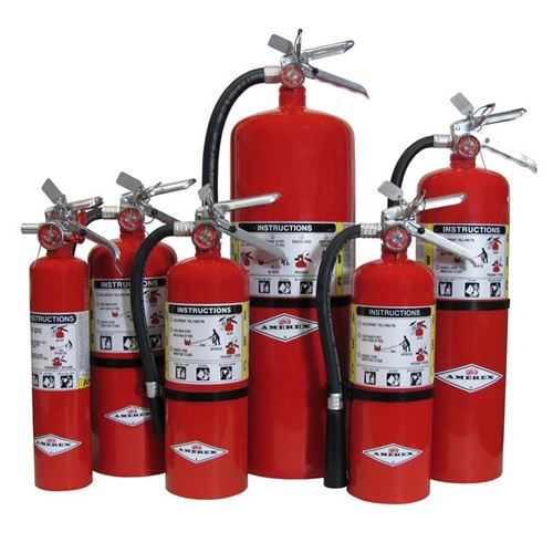 Picture of Amerex ABC Fire Extinguishers with Vehicle Bracket