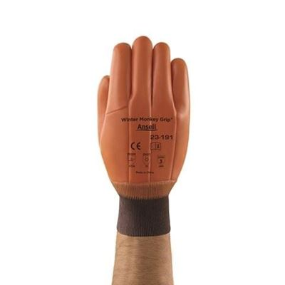 Picture of Ansell 23-191 Winter Monkey Grip® PVC Coated Gloves - Size 10