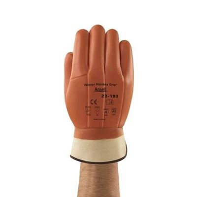 Picture of Ansell 23-193 Winter Monkey Grip® PVC Coated Gloves - Size 10