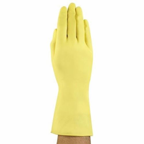 Picture of Ansell G12Y Yellow Latex Gloves - Size 7.5