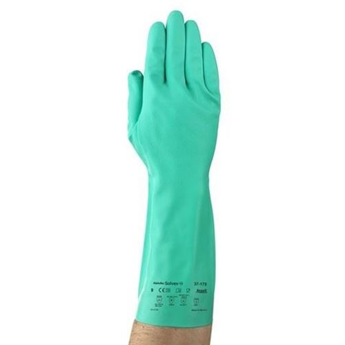 "Picture of Ansell 37-175 Sol-Vex® 13"" Chemical Resistant Gloves"