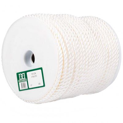 Picture of Barry&Boulerice® 3-Strand Twisted White Nylon Rope - Jumbo Reels