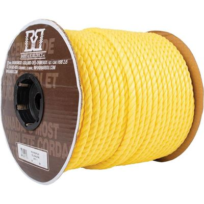 Picture of Barry&Boulerice® 3-Strand Twisted Yellow Polypropylene Rope - Jumbo Reels