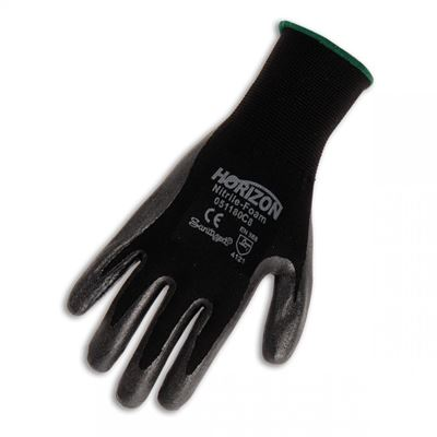 Picture of BBH Horizon™ Nitrile Foam Dipped Polyester Glove - Size 9