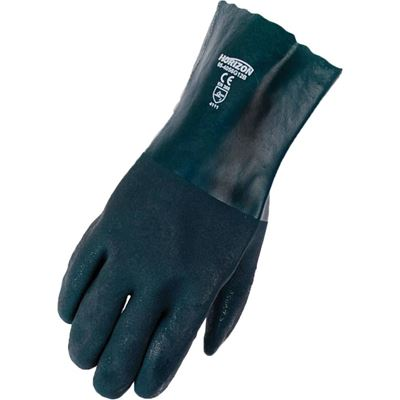 """Picture of Horizon® Green Double-Dipped 14"""" PVC Gloves - One Size"""