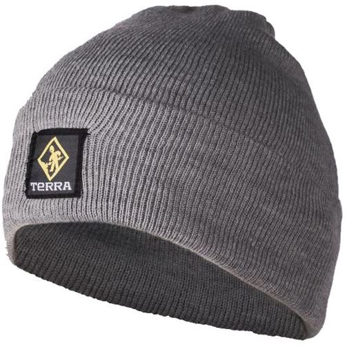 Picture of TERRA® Grey Knitted Ribbed Toque