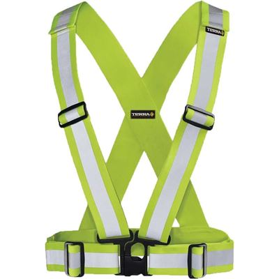 Picture of TERRA® Hi-Vis Yellow Adjustable Safety Sash