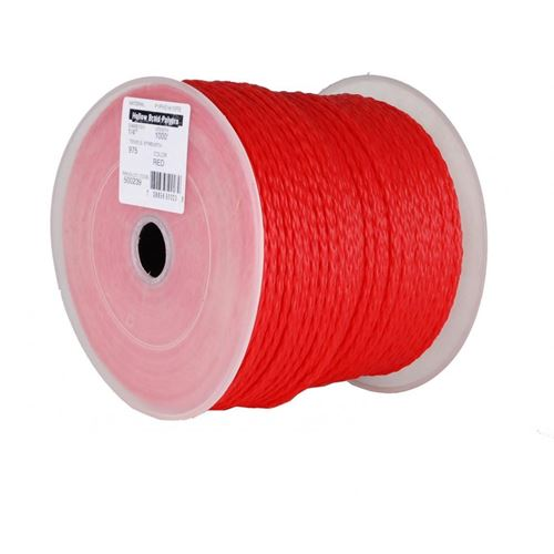 Picture of Barry&Boulerice® Red Poly Hollow Braid Rope