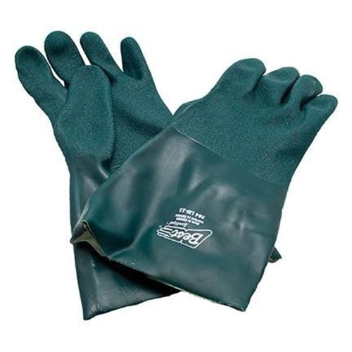 """Picture of Showa Best Green 14"""" PVC Rough Tough Glove - X-Large"""