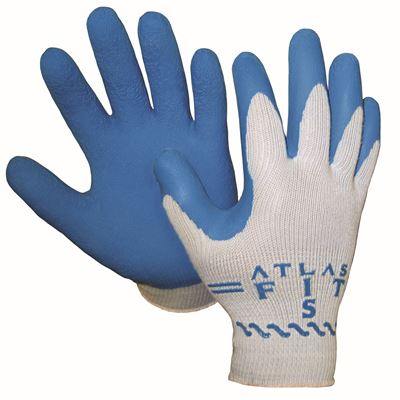 Picture of Showa Best Atlas 300 Grey String Knit Natural Rubber Coated Glove - Size 9