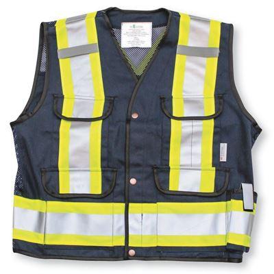 Picture of Big K K700 Navy Blue Supervisor Safety Vest