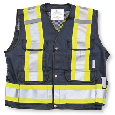 Picture of Big K K700 Navy Blue Supervisor Safety Vest