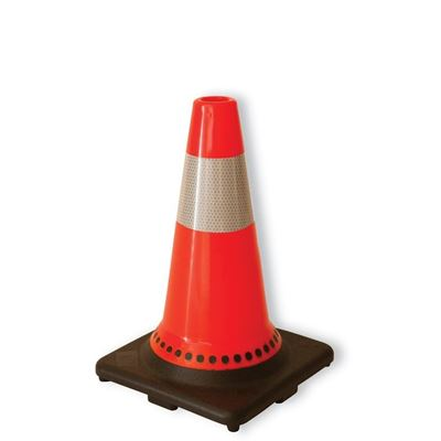 "Picture of Big K Orange Traffic Cones with 6"" Reflective Collar"