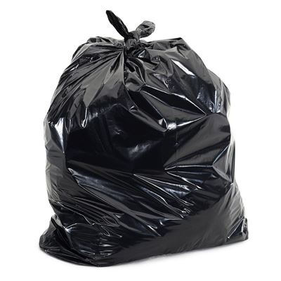Picture of Black Biodegradable Strong Garbage Bags