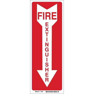 Picture of Brady Fire Extinguisher Signs