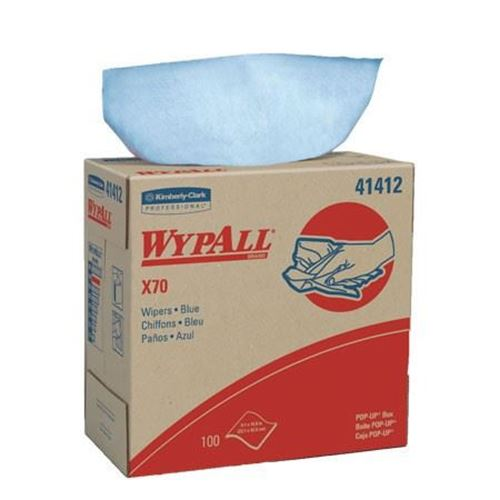 """Picture of WypAll X70 Hydroknit Blue Reinforced Wipers - 9.1"""" x 16.8"""""""
