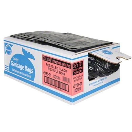"""Picture of Black Extra Strong Garbage Bags - 35"""" x 50"""""""