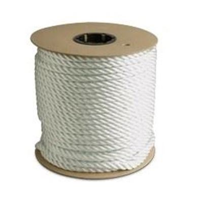 """Picture of Canada Cordage 3-Strand Twisted White Nylon Rope - 1/2"""" x 335'"""