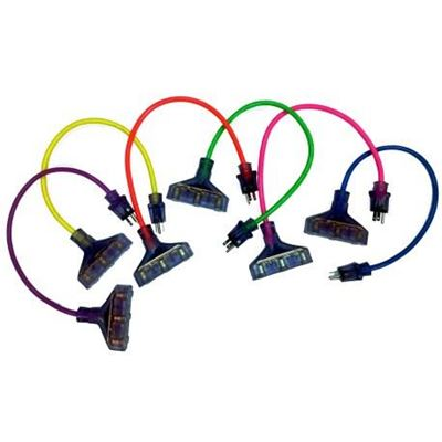 Picture of Pro Glo® Lighted Triple Outlet 14/3 Cord Adapter