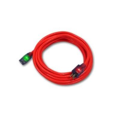 """Picture of Pro Glo® Lighted Single Outlet Extension Cords with """"CGM"""" Technology - 14/3 Ga x 50'"""
