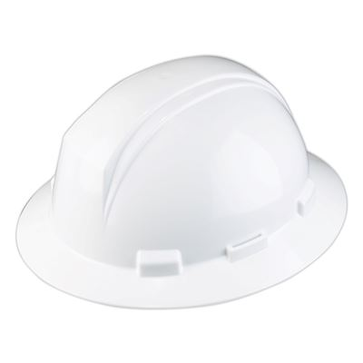 Picture of DSI White Kilimanjaro Full Brim Hard Hat, Type 1 - Ratchet Suspension