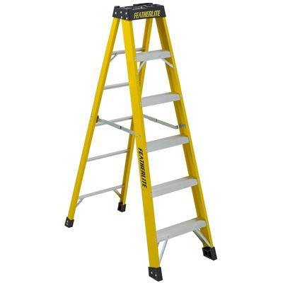 Picture of Featherlite 6' Series 6900 Extra Heavy Duty Fibreglass Step Ladder
