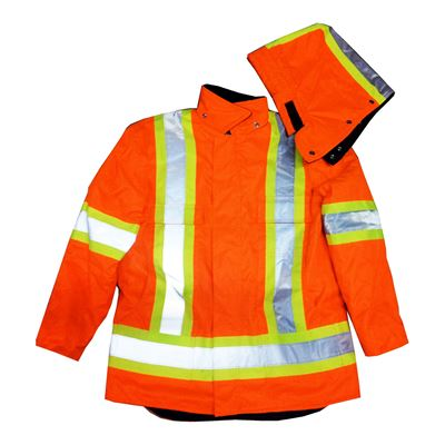 Picture of Stalworth Style 299 Orange Premium Waterproof Insulated Hydro Parka with Reflective Tape - 2X-Large