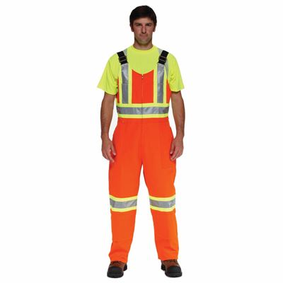 Picture of Ground Force® Style 851GF Orange Standard Insulated Polycotton Overall with Reflective Tape - Large