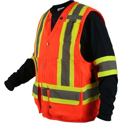 Picture of Ground Force® Style 091GF Orange Polyester Surveyor Vests