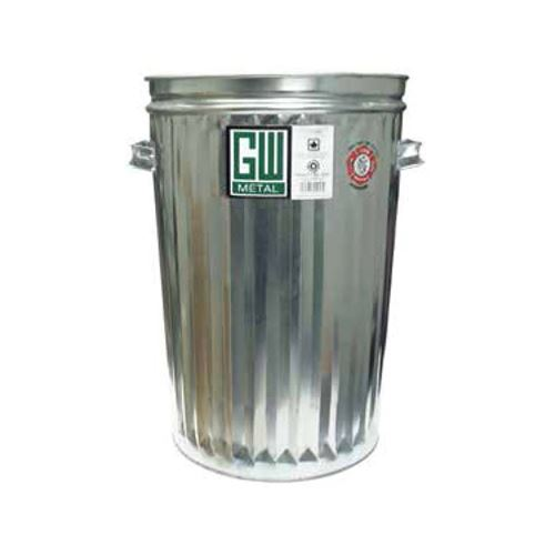 Picture of Galvanized Steel Garbage Can without Lid