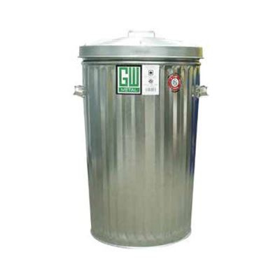 Picture of Galvanized Steel Tapered Garbage Can with Lid