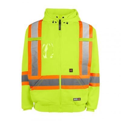 Picture of Holmes Workwear® Yellow 116506 Hi-Vis Heated Hoodies