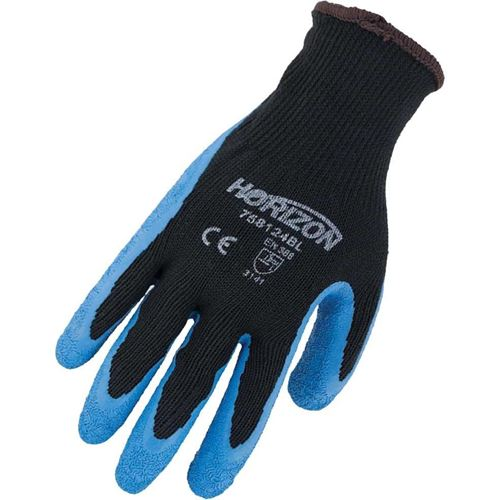 Picture of Horizon® Blue Textured Latex Palm Gloves