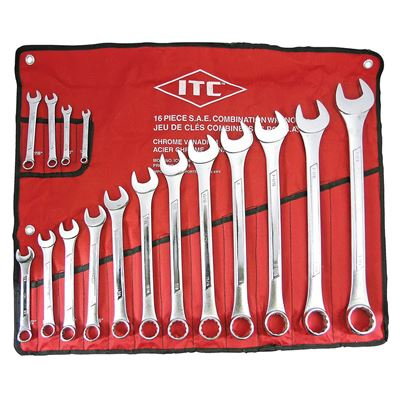 Picture of ITC® 16 Piece Combination Wrench Set - SAE