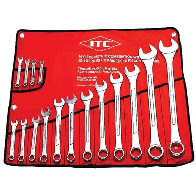 Picture of ITC® Metric Combination Wrench Set - 16 Piece
